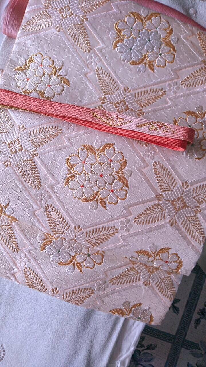 菅原呉服店の袋帯と帯締め